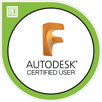 Badge certification Fusion 360
